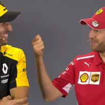 VIDÉO : L'accent australien de Vettel fait craquer Ricciardo