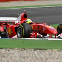 VIDEO: Schumacher gives Ferrari F2004 a spin at Hockenheim