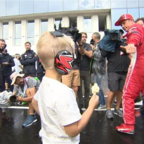 VIDEO: Raikkonen Jr. gets behind the wheel for the first time!