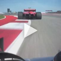 VIDEO: Hamilton can't get past Raikkonen!