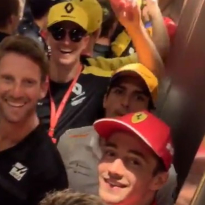 VIDEO: Ricciardo, Leclerc trapped as half of German GP grid stuck in elevator