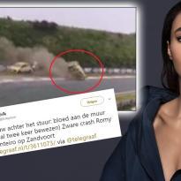 Ongepaste reacties op Twitter na zware crash Romy Monteiro
