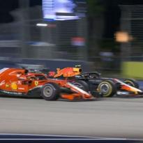VIDEO: Vettel and Verstappen go close!