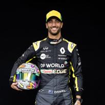Ricciardo shows off striking new helmet design