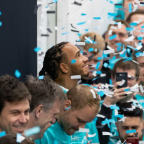 VIDEO: Lewis Hamilton, Mercedes title celebrations behind the scenes