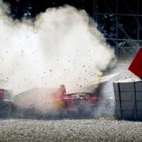 VIDÉO : Les images du crash de Vettel à Barcelone