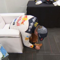 VIDEO: Verstappen raced out of his boots in Austin!
