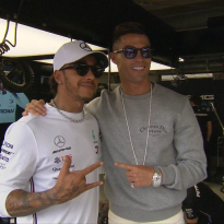 VIDEO: Hamilton visited by Cristiano Ronaldo at Monaco GP