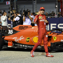 """Leclerc over pole position: """"Het is een behoorlijke verrassing voor het team"""""""