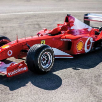 Ferrari F2002 Michael Schumacher voor bijna zes miljoen over de toonbank