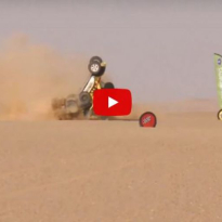 VIDEO: HUGE crash in the Africa Eco Race!