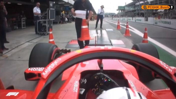 VIDEO: Vettel destroys FIA weighbridge!