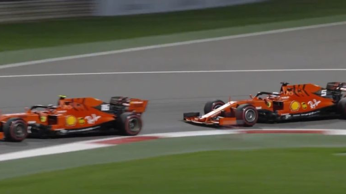 VIDEO: Leclerc speeds past Vettel to claim the lead in Bahrain!