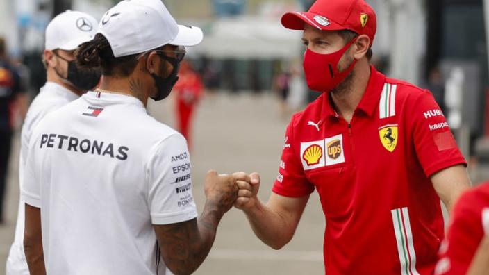 """Vettel reageert met knipoog op zijn record: """"Misschien leuk als ik dik en kaal ben"""""""