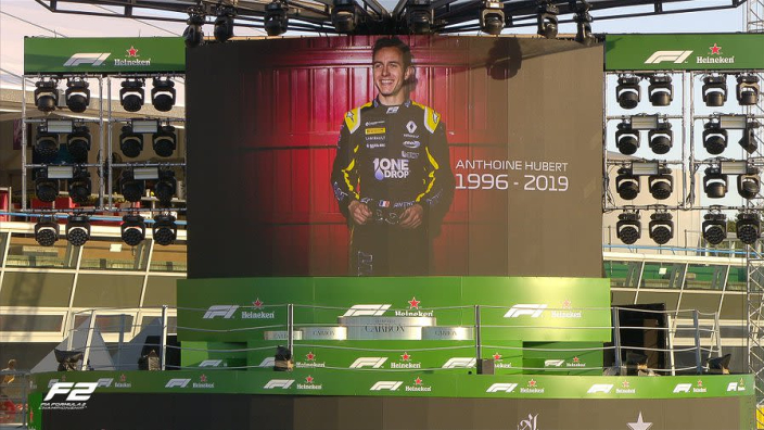 Hubert tributes held on F2 Monza podium