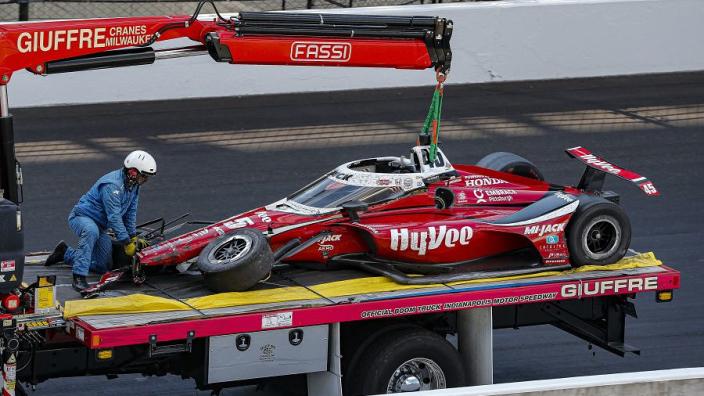 Pigot returns home after heavy Indy 500 crash