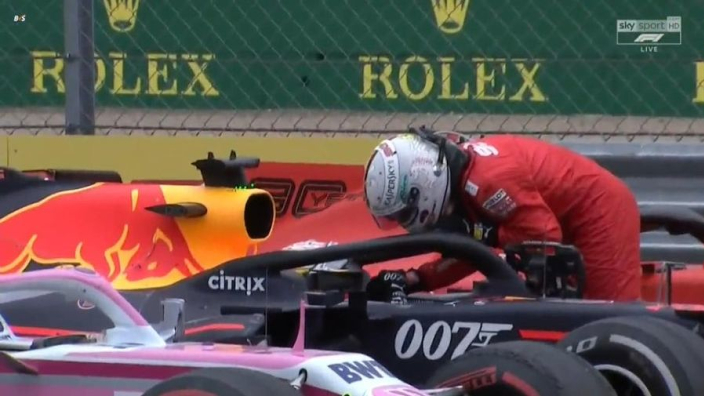 VIDEO: Vettel apologises to Verstappen after British GP collision