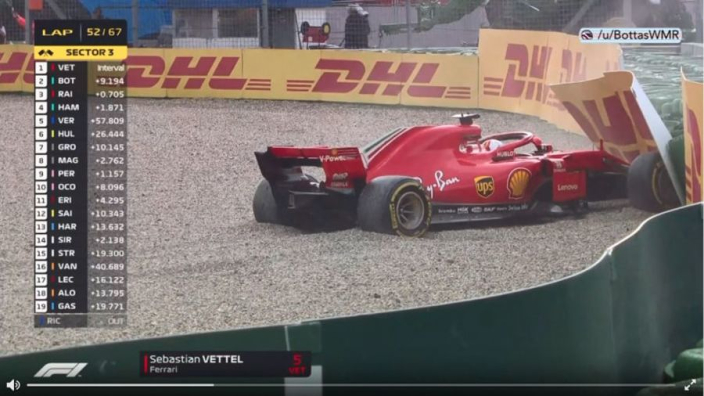 VIDEO: Vettel CRASHES OUT of German GP!
