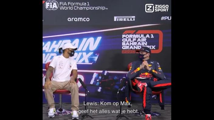 VIDEO: Hamilton moedigt Verstappen aan om Pirelli aan te pakken