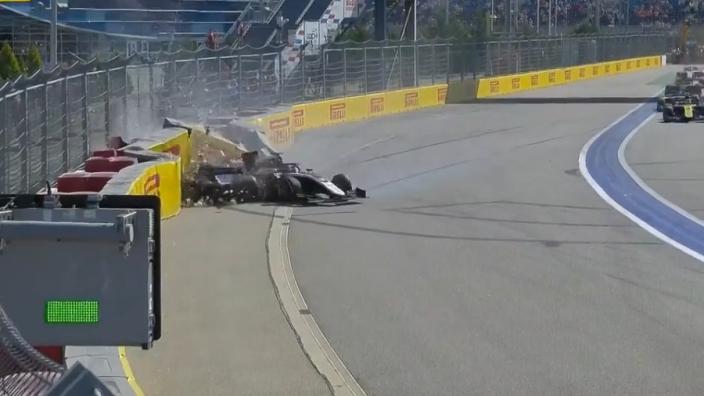 Huge Matsushita, Mazepin crash halts F2 race