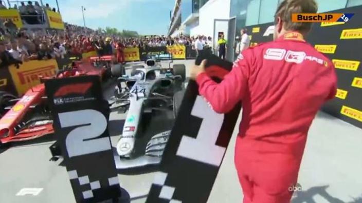 VIDÉO : Vettel montre à la FIA ce qu'il pense de la victoire de Hamilton