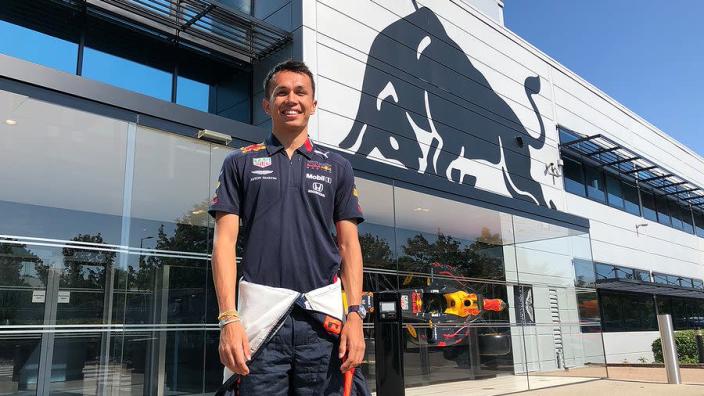 Albon's Red Bull seat fitting under way before Belgian GP debut
