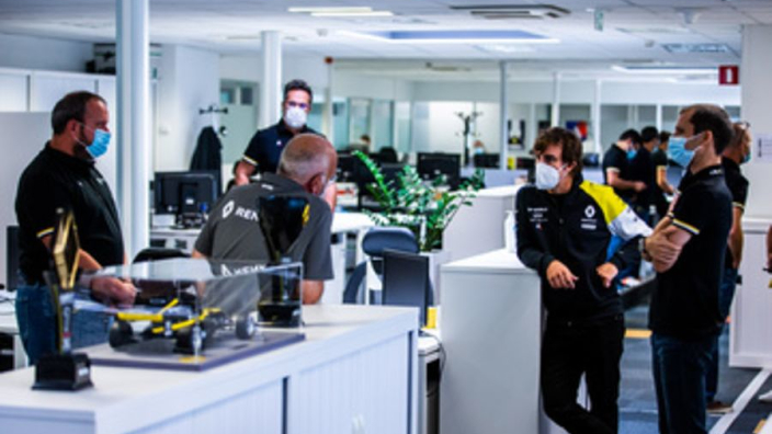 "Alonso visit to Renault ""like a first day at school"""