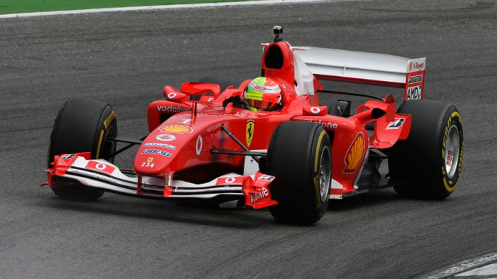 """Schumacher """"grateful"""" for following in his father's F2004 Ferrari footsteps"""