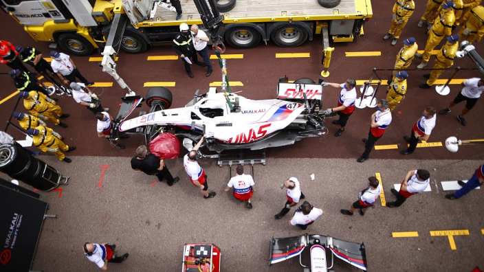 Schumacher OUT of Monaco qualifying after FP3 accident