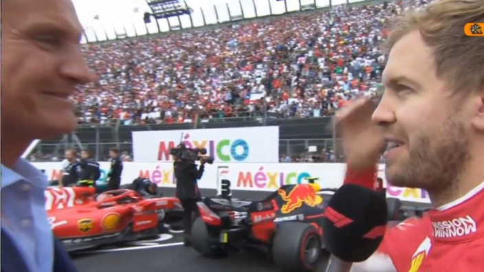 VIDEO: Vettel walks out of interview with David Coulthard