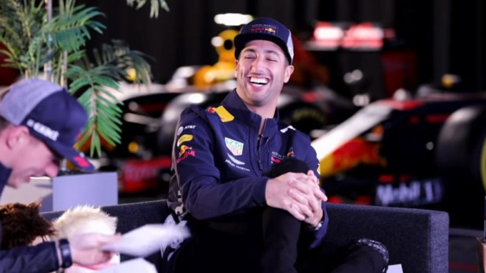 VIDEO: Ricciardo and Verstappen's sideways take on Red Bull's 2018