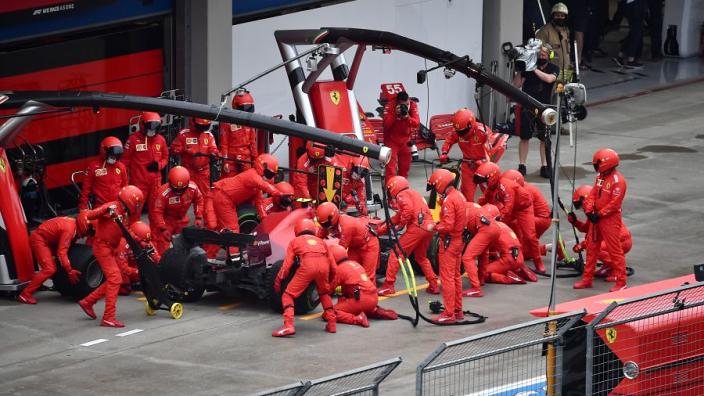 Ferrari blame a computer glitch for Sainz pit delay