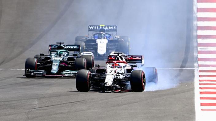 """Noodgeval zorgde voor aanrijding Räikkönen met Giovinazzi: """"Moest snel iets veranderen"""""""