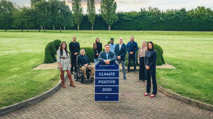 """Williams reveal sustainability plan to become """"climate positive"""" by 2030"""