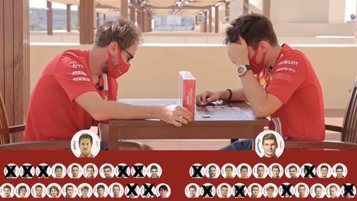 """Leclerc en Vettel gaan de uitdaging aan: """"Is Verstappen knap?"""""""