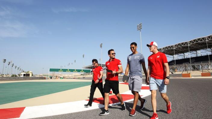 Schumacher's teammate unveils KFC bargain-bucket themed helmet