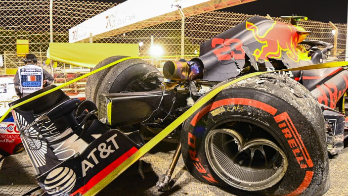 Frustrated Horner tells Albon to forget Bahrain crash error