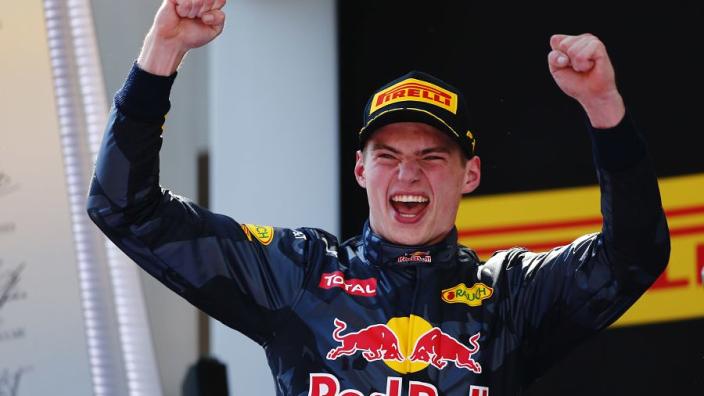 Formule 1 staat stil bij jubileum eerste overwinning Verstappen