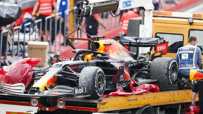 Pirelli concludeert: 'Klapband Verstappen in Imola kwam door schade loopvlak'