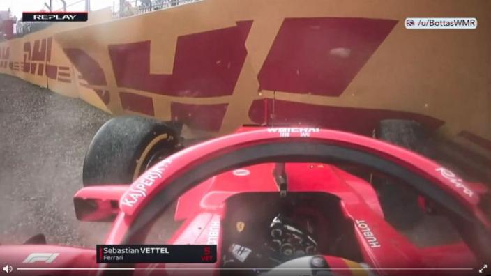 VIDEO: Vettel crying over team radio after Hockenheim crash
