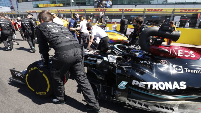 Why Mercedes repaired Hamilton damage with glue and tape
