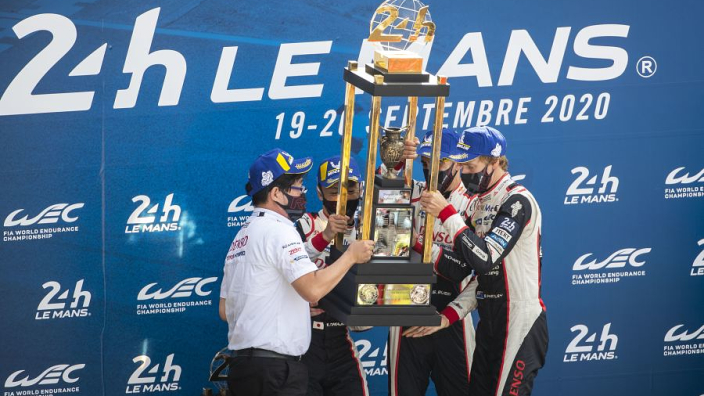 """We get to keep the trophy now"" - Buemi after third Le Mans win"