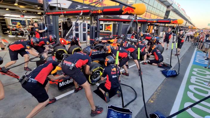 VIDEO: Zo oefende Red Bull een pitstop in Australië