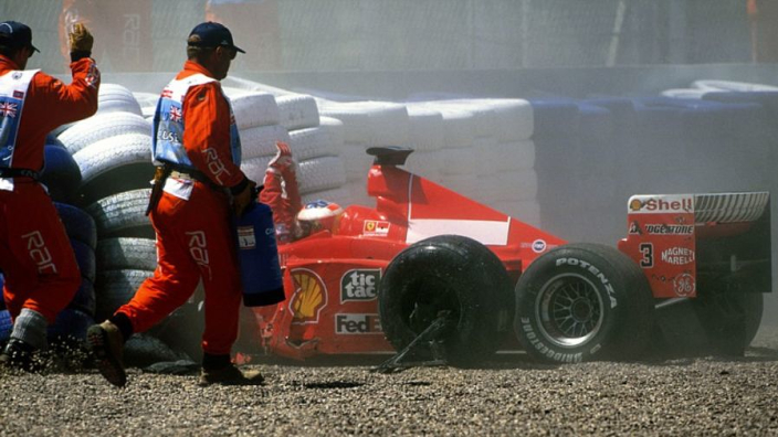 On This Day: Michael Schuamcher breaks leg in Silverstone crash