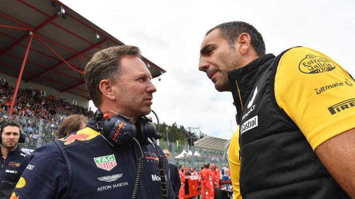 """Horner: """"Kijk uit naar de fraaie Red Bull-logo's op kont Abiteboul"""""""