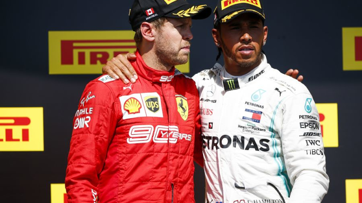 VIDEO: Hamilton allows Vettel to share top podium spot in Canada