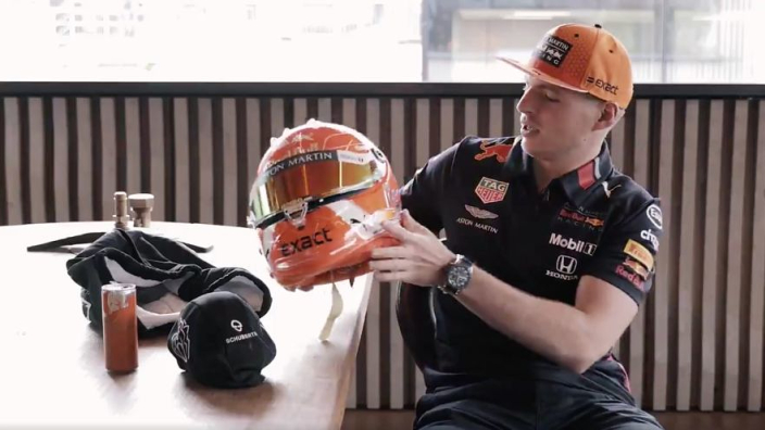 VIDEO: Verstappen reveals new helmet for Spa!