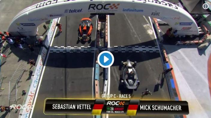 VIDEO: Schumacher beats Vettel in Mexico!