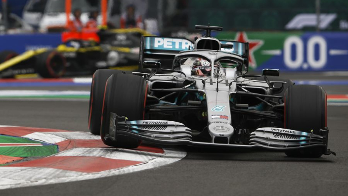 Hamilton survives Verstappen collision to win in Mexico, but title wait goes on