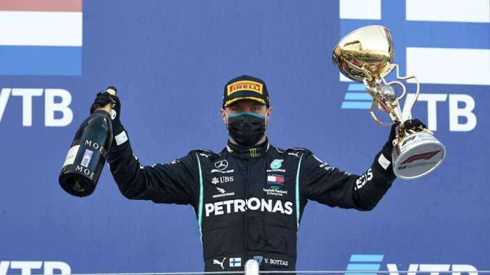 "Bottas back in Formula 1 title hunt after ""overdue"" win - Wolff"
